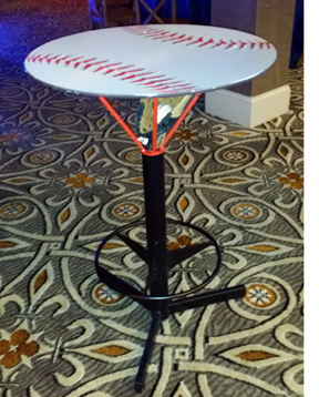Rent Sports Pub Tables Basketball Rim Table Basketball Hi Top Cocktail Pub Table Football