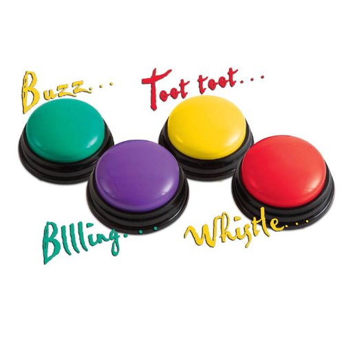 Do it yourself gameshow buzzers trivia rental company rockville md wireless battery operated game show buzzers liven up any games with fun sounding buzzers a great option for do it yourselfers without the use of any solutioingenieria Choice Image