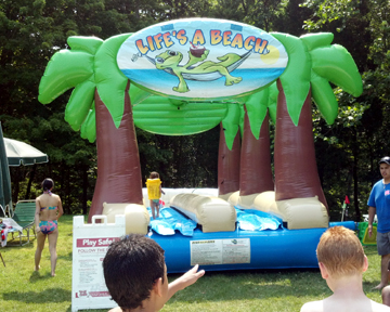 water slide game