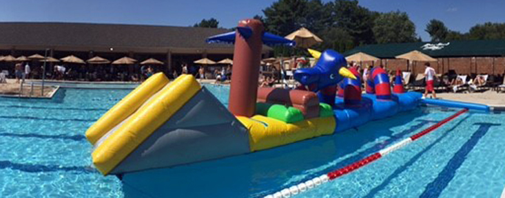 Rent Lochness Monster Dragon Floating Water Obstacle Course Md Dc Va Country Club Swimming