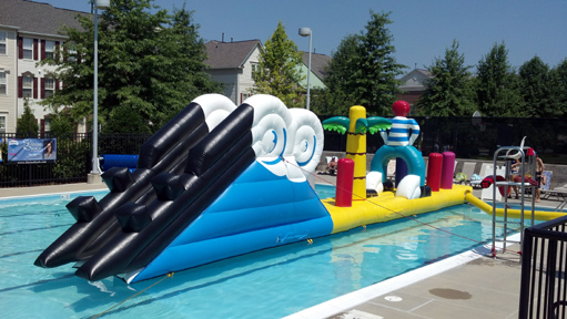 Swimming Pool Inflatable Obstacle Course Rentals Swimming Pool Water Attractions Rentals Md Dc
