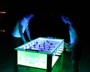 led foosball with players - web