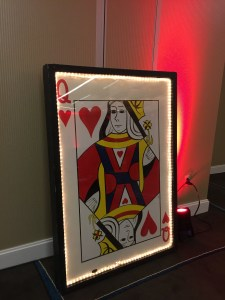 Single Lighted Playing Card - Q