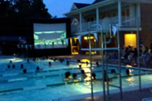 outdoor movie screen - swimming pool - web