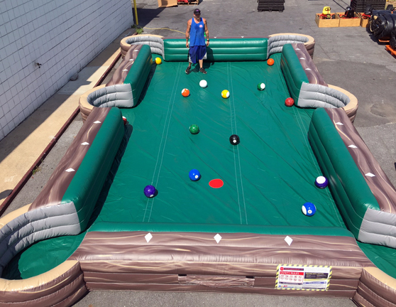 Giant Inflatable Soccer Billiards Rental Md Dc Va Giant