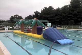 Inflatable Swimming Pool Obstacle Course